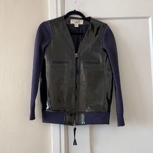 MARNI at H&M patent leather / knit jacket size 4